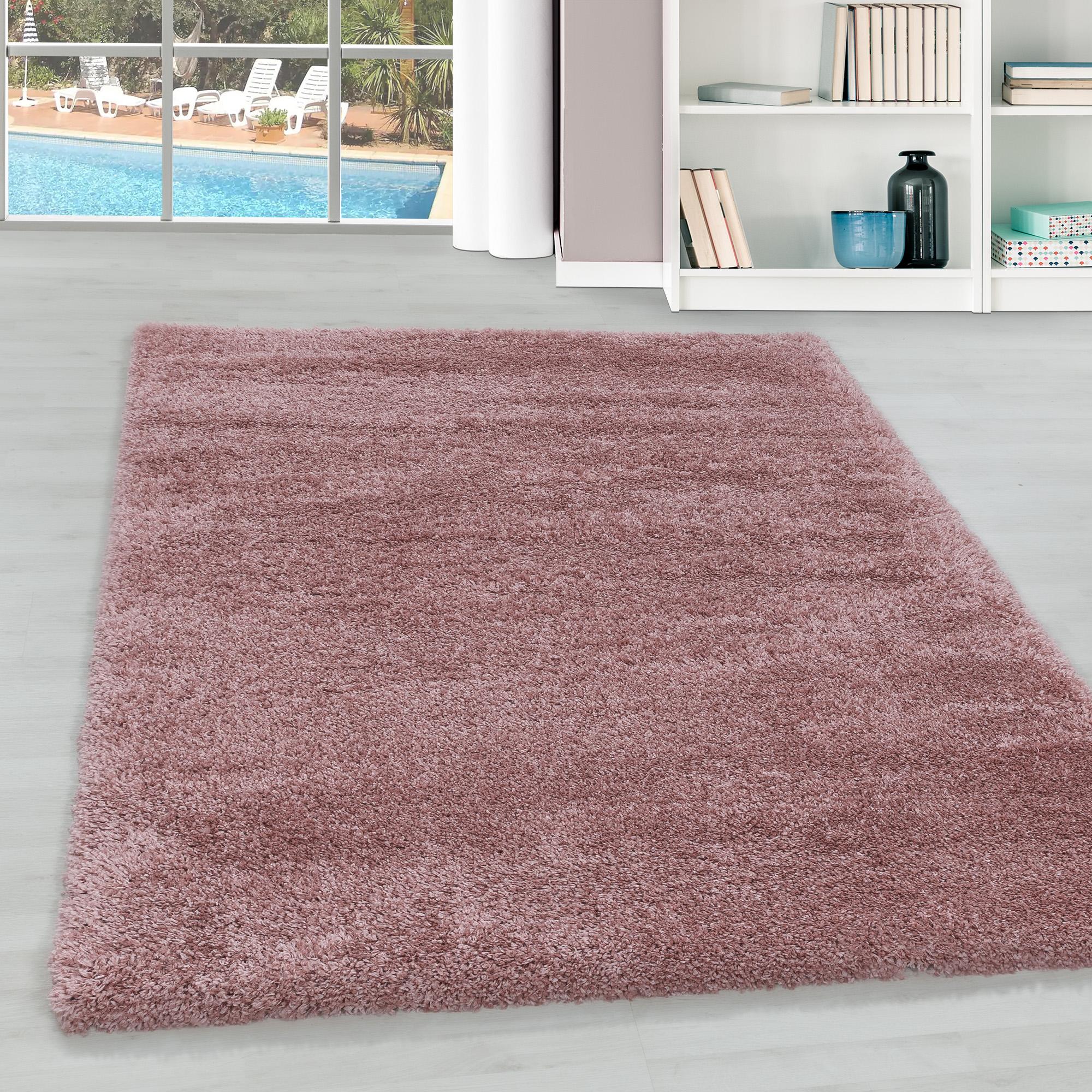 Einfarbig  Hochflor Teppich